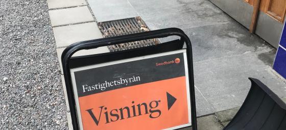 Lägenhetsvisning av Fastighetsbyrån. Foto: Rolf Gabrielson