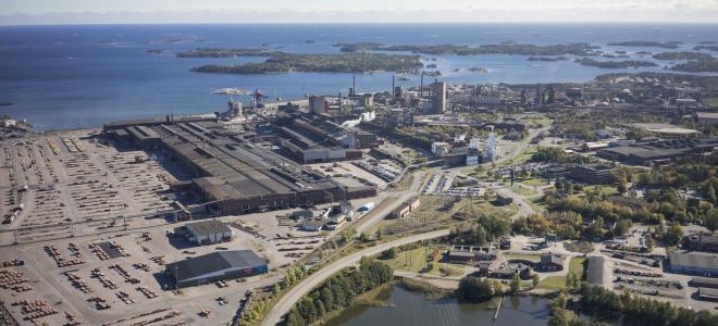 SSAB:s anläggning i Oxelösund. Foto: SSAB