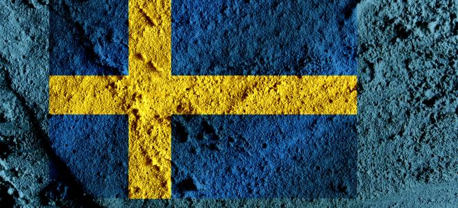Svensk flagga på botten. Foto: Colourbox