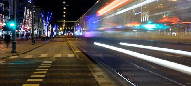 Spårvagnstrafik på Avenyn i Göteborg. Foto: Colourbox