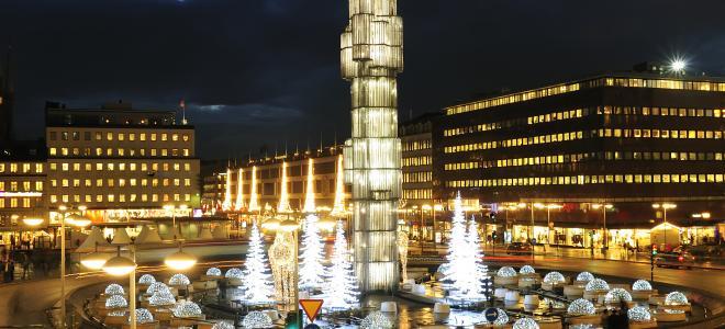 Stockholms City, med Sergels Torg och Hötorgsskraporna. Foto: Colourbox