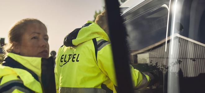 Fälttekniker från Eltel. Foto: Eltel