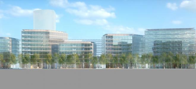 Float Office Building i Düsseldorf ska stå klart hösten 2018. Foto: RPW Joachim Lézie-Cobert