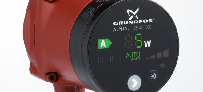 Grundfos Alpha2 cirkulationspump Foto: Grundfos