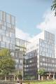 Illustration över en del av Nya Sjukhusområdet i Malmö. Illustration: White Arkitekter