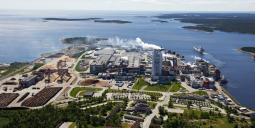 Metsä Boards massafabrik i Husum. Bild: Metsä Board